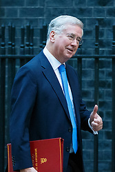 © Licensed to London News Pictures. 23/11/2016. London, UK. Defence Secretary MICHAEL FALLON attends a cabinet meeting in Downing Street before the autumn statement announment on Wednesday, 23 November 2016. Photo credit: Tolga Akmen/LNP