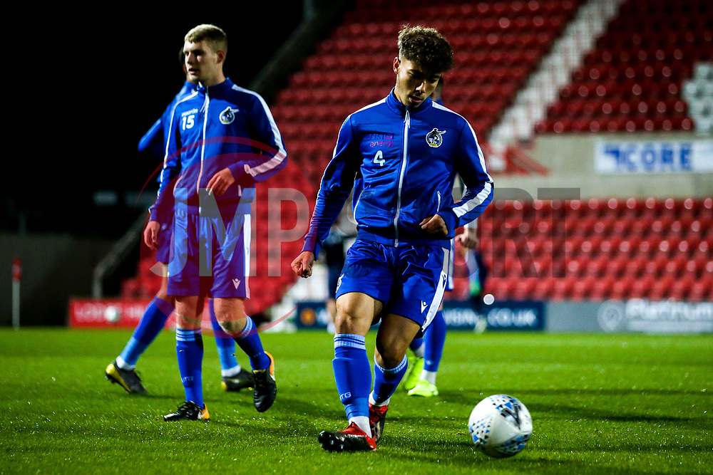 Mason Raymond of Bristol Rovers warms up - Mandatory by-line: Robbie Stephenson/JMP - 29/10/2019 - FOOTBALL - County Ground - Swindon, England - Swindon Town v Bristol Rovers - FA Youth Cup Round One