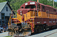 Great Smoky Mountains Railroad,Engine 711.