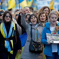 Manifestazione degli ucraini a Roma contro ex presidente Yanukovych