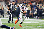 NEW ORLEANS, LA - NOVEMBER 13:  Devontae Booker #23 of the Denver Broncos runs the ball during a game against the New Orleans Saints at Mercedes-Benz Superdome on November 13, 2016 in New Orleans, Louisiana.  The Broncos defeated the Saints 25-23.  (Photo by Wesley Hitt/Getty Images) *** Local Caption *** Devontae Booker