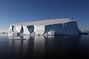 Crystal Sound, Antarctic Peninsula, Antarctica - A tabular iceberg floats in Crystal Sound along the Antarctic Peninsula. <br />  ©Ann Inger Johansson/zReportage/Exclusivexpix media