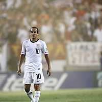USA midfielder Landon Donovan (10) waits fot the ball during a  CONCACAF Gold Cup soccer match between the United States and Panama on Saturday, June 11, 2011, at Raymond James Stadium in Tampa, Fla. (AP Photo/Alex Menendez)