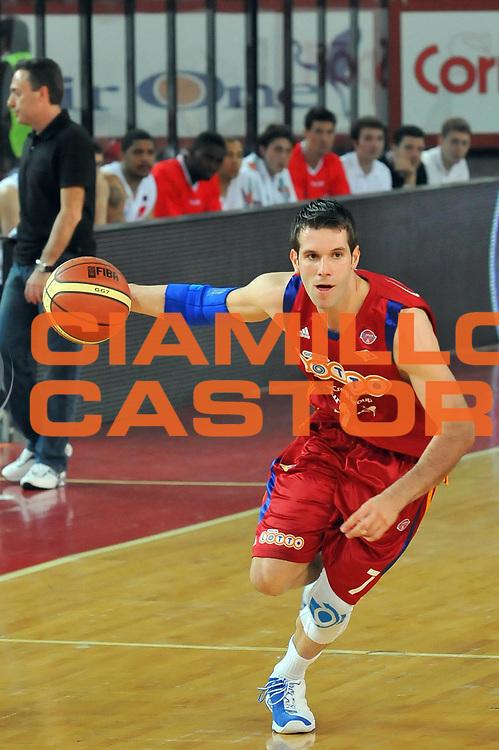 DESCRIZIONE : Roma Lega A 2008-09 Lottomatica Virtus Roma Armani Jeans Milano<br /> GIOCATORE : Sani Becirovic<br /> SQUADRA : Lottomatica Virtus Roma<br /> EVENTO : Campionato Lega A 2008-2009 <br /> GARA : Lottomatica Virtus Roma Armani Jeans Milano<br /> DATA : 26/04/2009<br /> CATEGORIA : Palleggio<br /> SPORT : Pallacanestro <br /> AUTORE : Agenzia Ciamillo-Castoria/G.Vannicelli