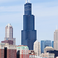 Willis Tower (formerly Sears Tower) one of the tallest skyscrapers in the world.