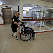 Pte Stephen Bainbridge of the Black Watch (3 SCOTS) who lost both legs in an IED explosion on the 11th of November 2011 in Loya Manda, Helmand Province, Afghanistan is now recovering well. Headley Court RAF Hospital, England on the 20th of March 2012.