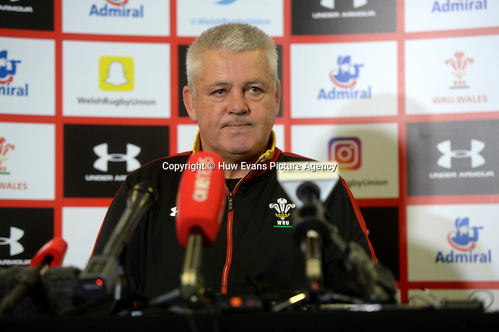 23.06.16 - Wales Rugby Team Announcement -<br /> Warren Gatland talks to media.