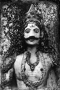 A Hindu shrine.