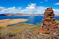 Mongolie, lac Noir // Mongolia,  black lake