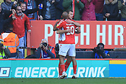 GOAL K Bielik celebrates 4-0 during the EFL Sky Bet League 1 match between Charlton Athletic and Rochdale at The Valley, London, England on 4 May 2019.