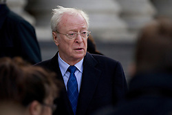 © Licensed to London News Pictures. 12/10/2012. LONDON, UK. Actor Sir Michael Caine is seen arriving at the memorial service for hairdresser Vidal Sassoon at St Paul's Cathedral in London today (12/10/12) . Photo credit: Matt Cetti-Roberts/LNP