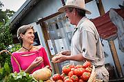 Roadside farmer's market, Dungog, Hunter Valley, NSW, Australia