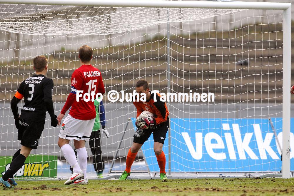 8.5.2014, Hiihtostadion, Lahti..<br /> Veikkausliiga 2014.<br /> FC Lahti - Inter Turku.<br /> Henrik Moisander - FC Lahti