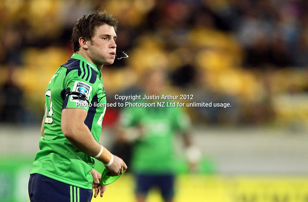 Highlanders' Colin Slade during the 2012 Super Rugby season, Hurricanes v Highlanders at Westpac Stadium, Wellington, New Zealand on Saturday 17 March 2012. Photo: Justin Arthur / Photosport.co.nz