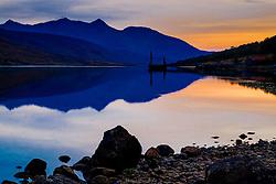 Sunset in autumn at Loch Etive in Glen Etive, Highlands of Scotland<br /> <br /> (c) Andrew Wilson | Edinburgh Elite media