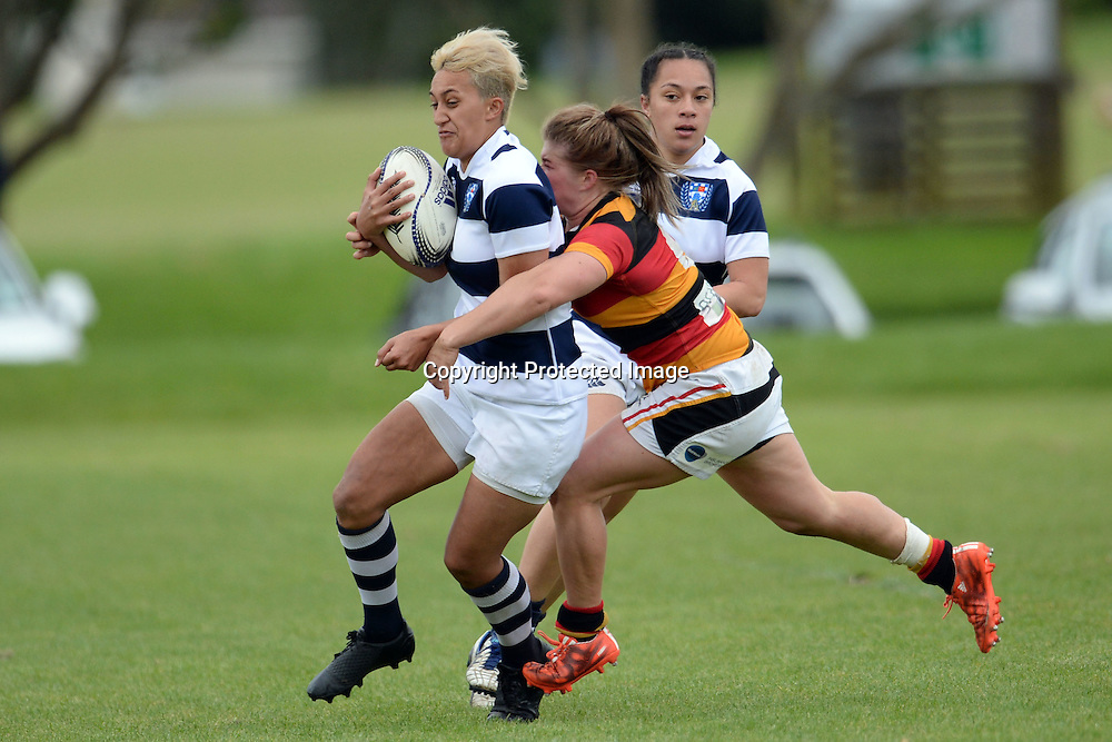 Kiritapu Demant of Auckland Storm in action during the Women's Rugby NPC Semi Final, Auckland Storm v Waikato. Auckland, New Zealand on Saturday 10 October 2015. Copyright Photo: Raghavan Venugopal / www.photosport.nz