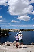 Summer on Silver Lake, California, central Sierra Nevada mountains.