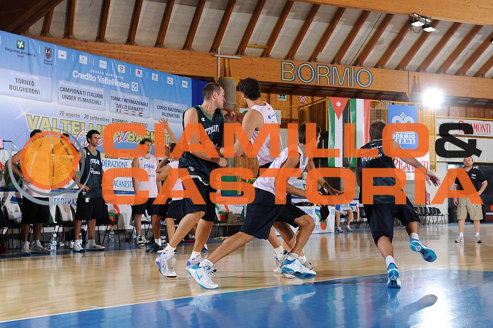 DESCRIZIONE : Bormio Raduno Collegiale Nazionale Italiana Maschile Allenamento<br /> GIOCATORE : team italia<br /> SQUADRA : Nazionale Italia Uomini <br /> EVENTO : Raduno Collegiale Nazionale Italiana Maschile <br /> GARA : <br /> DATA : 30/06/2010 <br /> CATEGORIA : <br /> SPORT : Pallacanestro <br /> AUTORE : Agenzia Ciamillo-Castoria/A.Dealberto<br /> Galleria : Fip Nazionali 2010 <br /> Fotonotizia : Bormio Raduno Collegiale Nazionale Italiana Maschile Allenamento<br /> Predefinita :
