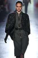 Shanina Shaik walks down runway for F2012 Jason Wus collection in Mercedes Benz fashion week in New York on Feb 10, 2012 NYC