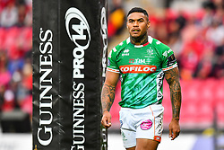 Monty Ioane of Benetton Treviso<br /> <br /> Photographer Craig Thomas/Replay Images<br /> <br /> Guinness PRO14 Round 3 - Scarlets v Benetton Treviso - Saturday 15th September 2018 - Parc Y Scarlets - Llanelli<br /> <br /> World Copyright © Replay Images . All rights reserved. info@replayimages.co.uk - http://replayimages.co.uk