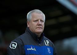 STEVENAGE, ENGLAND - Saturday, December 17, 2011: Tranmere Rovers' manager Les Parry before the Football League One match against Stevenage at Broadhall Way. (Pic by David Rawcliffe/Propaganda)