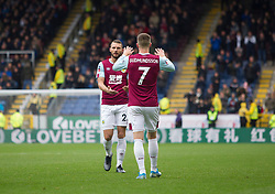 Erik Pieters of Burnley (L) celebrates after scoring his sides second goal - Mandatory by-line: Jack Phillips/JMP - 04/01/2020 - FOOTBALL - Turf Moor - Burnley, England - Burnley v Peterborough United - English FA Cup