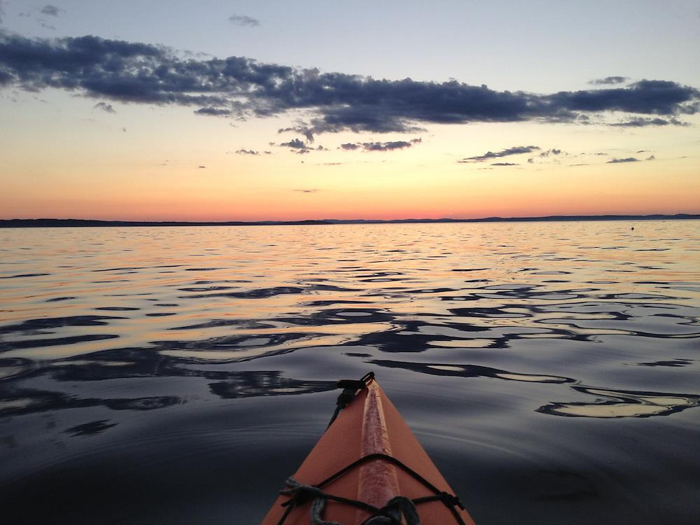 Kayaking at Dusk, Castine, Maine, US