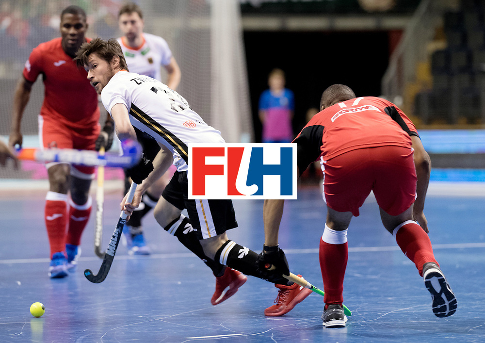 BERLIN - Indoor Hockey World Cup<br /> Men: Germany -  Trinidad &amp; Tobago<br /> foto: Martin Zwicker.<br /> WORLDSPORTPICS COPYRIGHT FRANK UIJLENBROEK