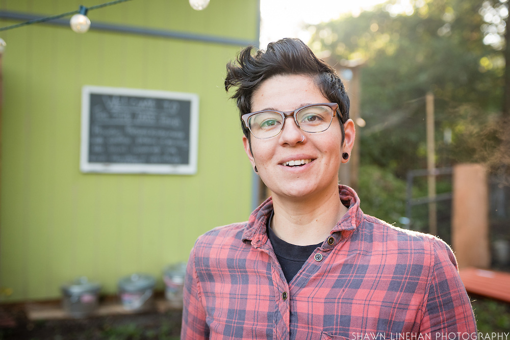 Stacey Givens, owner-farmer-chef of the Side Yard Farm and Kitchen in the Cully Neighborhood of Portland, Oregon.