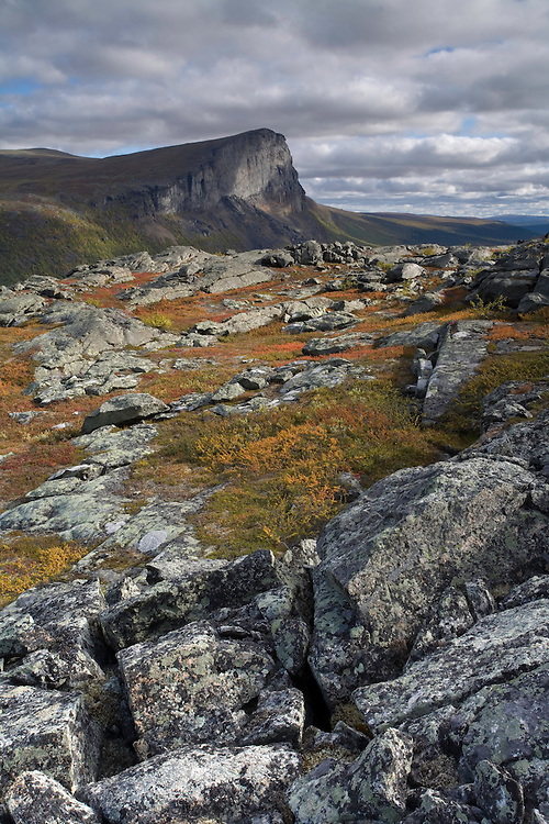 Skierffe mountain from Nammajs, Sarek National Park, Laponia World Heritage Site, Sweden