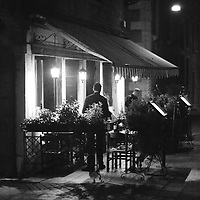 Venice, Italy - restaurant in Cannaregio district at night