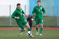 Rene Mihelic (10)  of Slovenia during Friendly match between U-21 National teams of Slovenia and Romania, on February 11, 2009, in Nova Gorica, Slovenia. (Photo by Vid Ponikvar / Sportida)