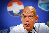 09-08-2015 VOETBAL: WILLEM II-VITESSE:TILBURG<br /> Trainer/Coach Jurgen STREPPEL van Willem II tijdens de persconferentie<br /> <br /> Foto: Geert van Erven