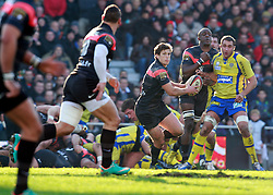 Luke Burgess attacks for Toulouse. Stade Toulousain v ASM Clermont Auvergne, Top 14, Stade Municipal, Toulouse, France, 1st December 2012.