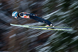 06.01.2015, Paul Ausserleitner Schanze, Bischofshofen, AUT, FIS Ski Sprung Weltcup, 63. Vierschanzentournee, Probedurchgang, im Bild Michael Hayboeck (AUT) // Michael Hayboeck of Austria soars trought the air during his Trial Jump for the 63rd Four Hills Tournament of FIS Ski Jumping World Cup at the Paul Ausserleitner Schanze, Bischofshofen, Austria on 2015/01/06. EXPA Pictures © 2015, PhotoCredit: EXPA/ Johann Groder