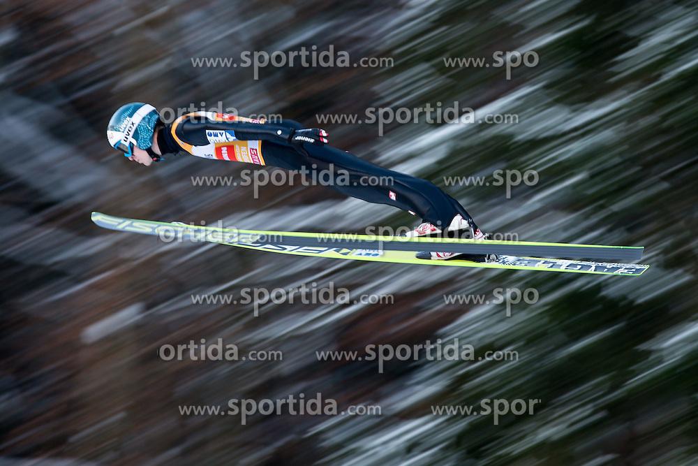 06.01.2015, Paul Ausserleitner Schanze, Bischofshofen, AUT, FIS Ski Sprung Weltcup, 63. Vierschanzentournee, Probedurchgang, im Bild Michael Hayboeck (AUT) // Michael Hayboeck of Austria soars trought the air during his Trial Jump for the 63rd Four Hills Tournament of FIS Ski Jumping World Cup at the Paul Ausserleitner Schanze, Bischofshofen, Austria on 2015/01/06. EXPA Pictures © 2015, PhotoCredit: EXPA/ Johann Groder