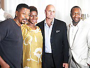 l to r: Robert Townsend, Tangie Murray, J.P. Oliver and Jeff Friday at The ABFF Luncheon Hosted by HSBC and Rush Philanthropic Arts held at The Delano in Miami Beach on June 27, 2009..The American Black Film Festival is an industry retreat and competitve marketplace for films and by and about people of color.