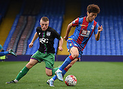 Chong-Yong Lee on the turn during the Final Third Development League match between U21 Crystal Palace and U21 Bristol City at Selhurst Park, London, England on 3 November 2015. Photo by Michael Hulf.