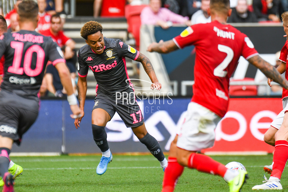 Helder Costa of Leeds United (17) in action during the EFL Sky Bet Championship match between Bristol City and Leeds United at Ashton Gate, Bristol, England on 4 August 2019.
