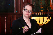 "Tamra Francis as Lillian Acumen during Mayhem & Mystery's production of ""Bumbling Burglary"" at the Spaghetti Warehouse in downtown Dayton, Monday, May 6, 2013."