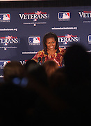 First Lady Michelle Obama at The James J. Peters VA Medical Center Visit with First Lady Michelle Obama and Dr. Jill Biden, wife of Vice President Joe Biden, along with baseball officials visit the James J. Peters VA Medical Center in the Bronx as a show of support for veterans through the Welcome Back Veterans.