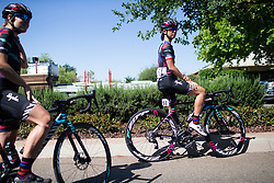 Katarzyna Niewiadoma (POL) of CANYON//SRAM Racing Team is ready for Stage 1 of the Amgen Tour of California - a 124 km road race, starting and finishing in Elk Grove on May 17, 2018, in California, United States. (Photo by Balint Hamvas/Velofocus.com)