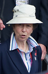 Princess Anne watching Zara Phillips competing  at  the show jumping event at the London 2012 Olympics , Tuesday 31st July 2012 Photo by: i-Images