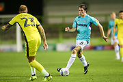 Forest Green Rovers Theo Archibald(18) on the ball during the EFL Trophy match between Forest Green Rovers and Cheltenham Town at the New Lawn, Forest Green, United Kingdom on 4 September 2018.