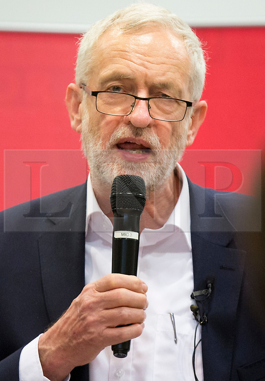 © Licensed to London News Pictures. 18/04/2016. Birmingham, UK.  Labour Leader JEREMY CORBYN giving a talk to carers on the day of the General Election Announcement.  Photo credit: Dave Warren/LNP