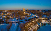Feb 20, 2015 - Low Level Aerial photo, Glens Falls NY. (©Todd Bissonette)