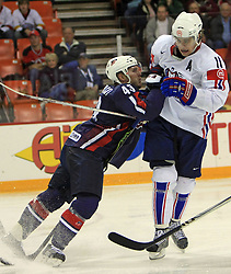 Wisniewski and Anze Kopitar at ice-hockey match USA vs Slovenia at Preliminary Round (group B) of IIHF WC 2008 in Halifax, on May 04, 2008 in Metro Center, Halifax, Nova Scotia, Canada. (Photo by Vid Ponikvar / Sportal Images)