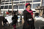 MANHATTAN, NY. FEB. 14, 2014. Gabrielle Salfati, Bryant Park, Manhattan. 1579. Photo by Stefani Kim/CUNY Photo Wire.