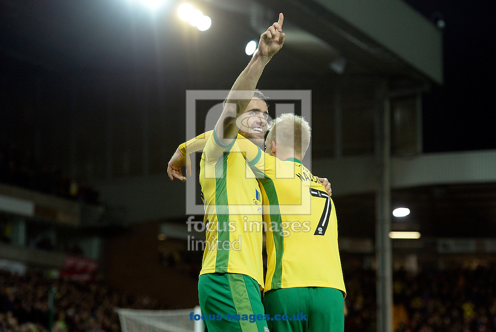 Robbie Brady of Norwich City celebrates his goal against  Brentford during the Sky Bet Championship match at Carrow Road, Norwich<br /> Picture by Matthew Usher/Focus Images Ltd +44 7902 242054<br /> 03/12/2016