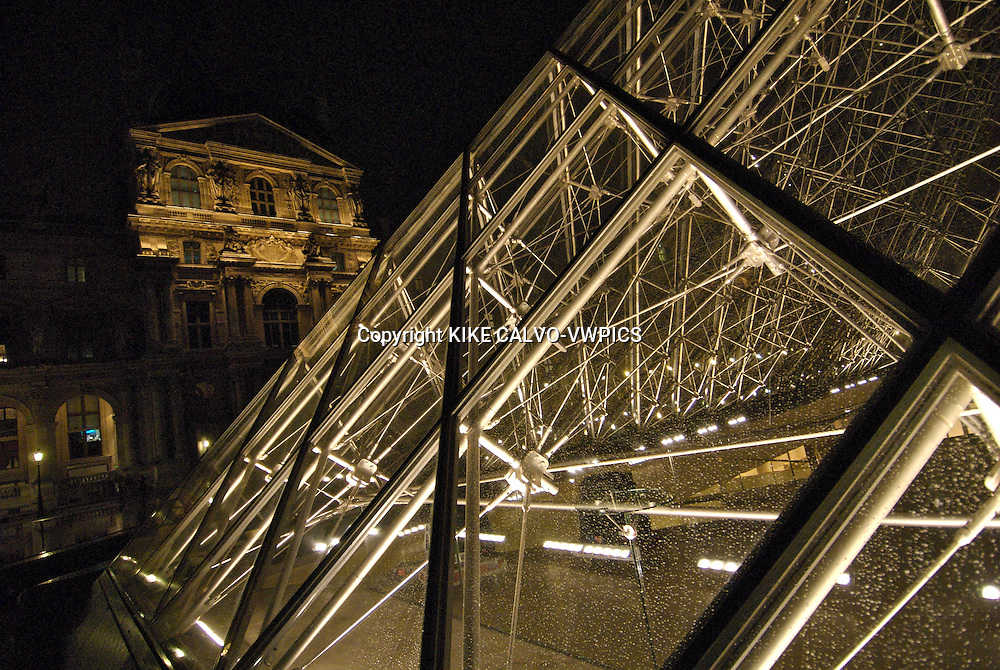 Paris. France., The Louvre Museum, which became news headlines as part of the plot of The Da Vinci Code movie, Glass pyramid Pavillon Sully the Louvre Cour Napoleon, The Louvre Museum in Paris, The Muse?e du Louvre houses 35,000 works of art drawn from eight departments, displayed in over 60,000 square meters of exhibition space dedicated to the permanent collections. Explore the works on display, taking a thematic or cross-departmental approach.